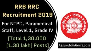RRB RRC Recruitment 2019