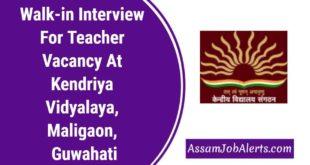 Walk-in Interview For Teacher Vacancy At Kendriya Vidyalaya, Maligaon, Guwahati