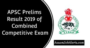 APSC Prelims Result 2019 For Combined Competitive Exam