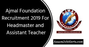 Ajmal Foundation Recruitment 2019