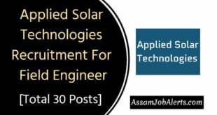 Applied Solar Technologies Recruitment For Field Engineer