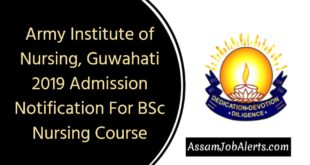 Army Institute of Nursing, Guwahati 2019 Admission Notification