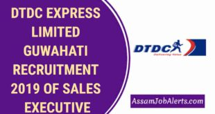 DTDC EXPRESS LIMITED GUWAHATI RECRUITMENT 2019 OF SALES EXECUTIVE