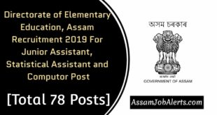 Directorate of Elementary Education, Assam Recruitment 2019