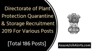 Directorate of Plant Protection Quarantine & Storage Recruitment 2019