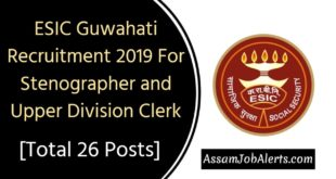 ESIC Guwahati Recruitment 2019