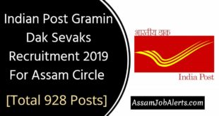 Indian Post Gramin Dak Sevaks Recruitment 2019 For Assam Circle