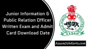 Junior Information & Public Relation Officer Written Exam and Admit Card Download Date