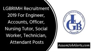 LGBRIMH Recruitment 2019