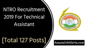 NTRO Recruitment 2019 For Technical Assistant