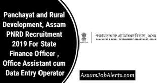 Panchayat and Rural Development, Assam PNRD Recruitment 2019 For Various Posts