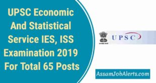 UPSC Economic And Statistical Service IES, ISS Examination 2019 For Total 65 Post