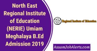 North East Regional Institute of Education (NERIE) Umiam Meghalaya