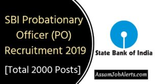 SBI Probationary Officer Recruitment 2019