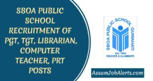 SBOA PUBLIC SCHOOL RECRUITMENT OF PGT, TGT, LIBRARIAN, COMPUTER TEACHER, PRT POSTS