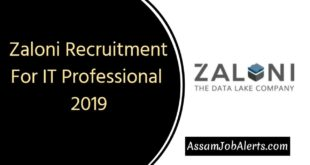 Zaloni Recruitment For IT Professional 2019